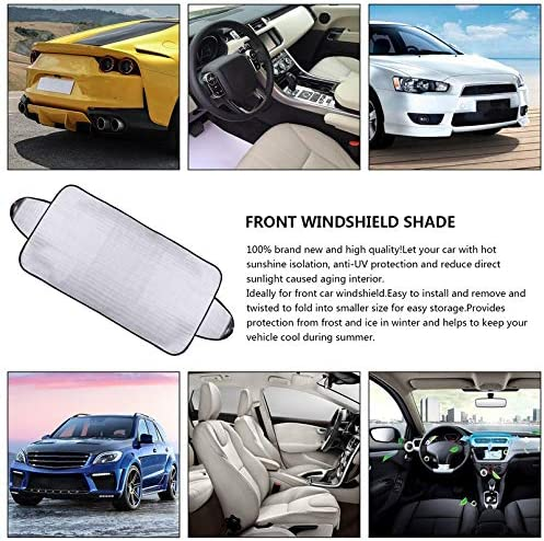 sahnah Practical Car Windscreen Cover Anti Ice Snow Frost Shield Dust Protection Heat Sun Shade Ideally for Front Car Windshield
