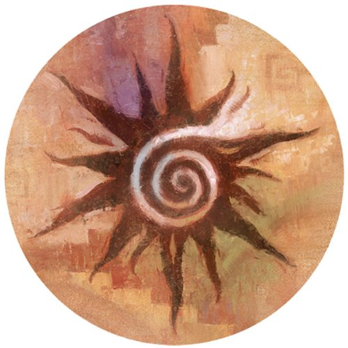 Thirstystone Spiral Sun Coaster, Multicolor