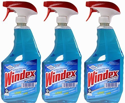 Windex Powerized Glass Cleaner with Ammonia-d, 32 Oz. Trigger Spray Bottle (Pack of (Ammonia Bottle)