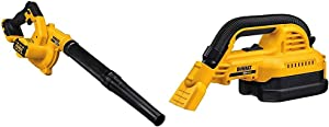 DEWALT 20V MAX Blower for Jobsite, Compact, Tool Only (DCE100B) & 20V MAX Cordless Vacuum, Wet/Dry, Portable, 1/2-Gallon, Tool Only (DCV517B)