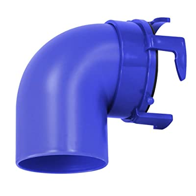 Prest-O-Fit 1-0020 Universal Sewer Hose Adapter, 90 Degree - Blue: Automotive