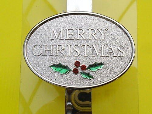 Shades Metal Plated Door Wreath Hanger 30cm Christmas Decoration Deluxe Merry Christmas Design