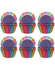 Garta Cupcake Cases, 600Pcs Cake Paper Wrapper Baking Cases Rainbow, Foil Cupcake Liners Metallic Muffin Cups Nonstick Muffin Cases Molds for Dessert Wedding Party Birthday Thanksgiving Day
