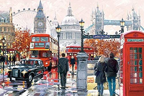 Modern Home Decorations Jigsaw Puzzles 1000 Pieces for Adults Romantic Streetscape Puzzles-Family Games Suitable for Decompression