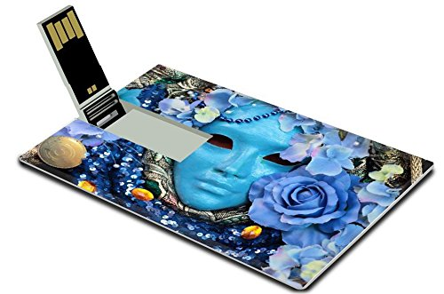[Luxlady 32GB USB Flash Drive 2.0 Memory Stick Credit Card Size A blue mask with floral decorations exhibited during the traditional Carnival IMAGE 26281444] (Costume Design Software Free Mac)