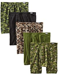 Hanes Men's 5-Pack Comfort Soft Printed Boxer Briefs
