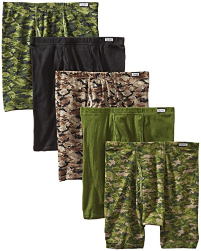 Hanes Men's 5-Pack Comfort Soft Boxer Briefs, Printed/Camo, X-Large (Best Comic Runs Ever)