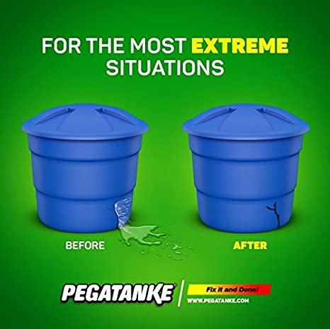 Ready to be applied on any surface, Plastic, Ceramic, Metal, and many other surfaces. PegaTanke dries underwater, and has a Soft Odor - (White): ...