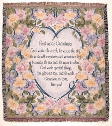 (Simply Home God Made Grandmas Floral Tapestry Throw Blanket 50