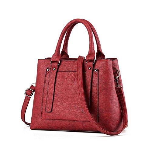 Beatayang Damen Elegant Schultertasche Handtasche Rot1