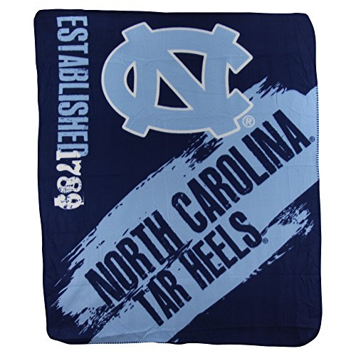 The Northwest Company NCAA Collegiate School Logo Fleece Blanket (North Carolina Tarheels, 50