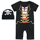 : Mombebe Baby Boys' Pirate Halloween Costume Romper with Hat (12-18 Months, Pirate)
