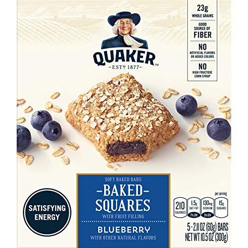 - Quaker Breakfast Squares, Soft Baked Bars, Blueberry, 5 Bars