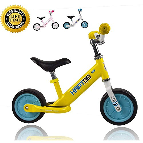 HAPTOO Baby Balance Bike – 7 in for 1 2 3 Year Old, Sturdy & Lightweight Laufrad, for Kids