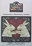 Bunny Love PN008 Punchneedle Punch Needle Embroidery Easter Rabbit Teresa Kogut Pattern