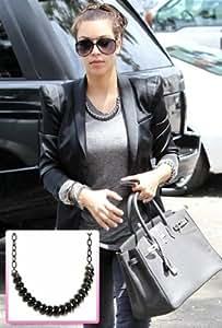 Belle Noel By Kim Kardashian Rams Horn Collar Necklace in Gunmetal