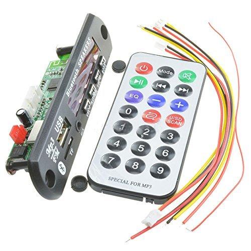 SODIAL(R) Wireless Bluetooth 12V MP3 WMA Decoder Board Audio Module USB TF Radio For Car