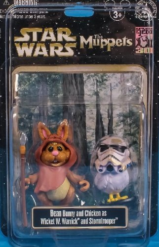 Star Wars Muppets - Disney Star Wars Weekends 2013 Muppets Bunny Bean and Camille as Wicket the Ewok and Stormtrooper Action Figure 2-Pack - Exclusive Limited Edition
