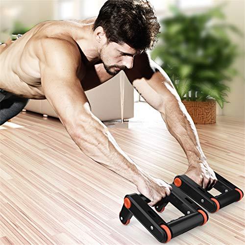Bauchtrainer ASZKSYGN Abdominal Übung mit Vier Rollen für die Bauchmuskulatur des Fitnessgeräts zur Stärkung des Zuhauses