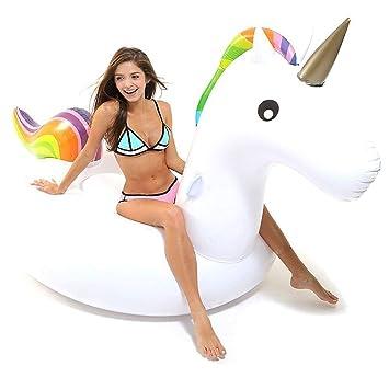 Hinchable Unicornio, Flotador de Unicornio Gigante Inflable Juguete Colchonetas Unicornio Flotador Conveniente para la Fiesta Piscina de Playa de ...