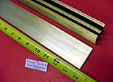 4 Pieces 1/4'' x 2'' C360 BRASS FLAT BAR 14'' long Solid .250'' Plate Mill Stock H02