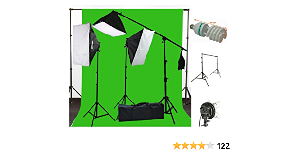 Adjustable Background Support KitIncludes 3x5m Green Chroma Key Background