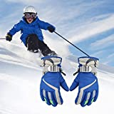 ski Gloves Kids Winter Warm Waterproof Windproof Thermal Snowboard Anti Slip Cold Weather Snow Skiing Snowboarding Cycling per Children's Lining Outdoor Sports Mittens for 3-6 Years Old boy Girls