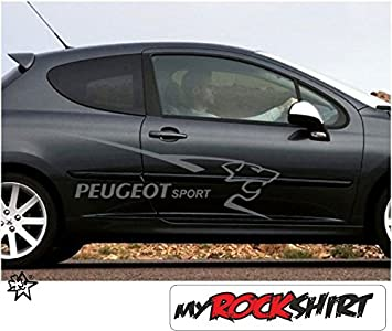 2 X Peugeot Logo Löwe Schriftzug 100 Cm Aufkleber