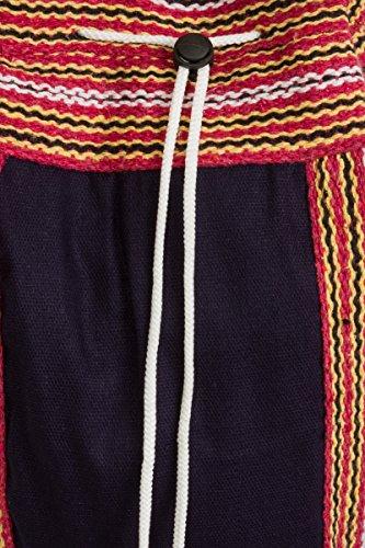 ThaiUK - Bolso mochila  para mujer rojo Décor azul