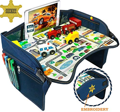 Smart Travel Tray  Ideal as Kids Travel Tray  Toddler Travel Tray amp Baby Stroller Tray  Travel Activity Tray amp Play Tray  Baby Snack Tray amp Kid#039s Car Seat Tray  Play Table