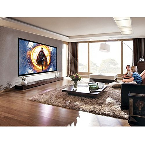 Safstar Aluminum HD Fixed Frame Projector Screen for Home Theater Office Presentation (120'' / 16:9 / 104'' x 60'') by Safstar