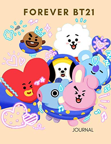 KPOP FOREVER BT21 Big Journal for BTS ARMYS OPPA and BIAS: K-Idols Cute and Pretty College Ruled Notebook for School and Personal Notes
