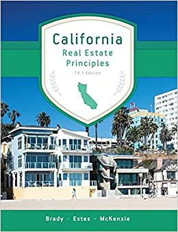 California Real Estate Principles 101 Edition Mary Ellen Brady