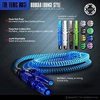 New Tonic Washable Lounge Style Hookah Hose Blue