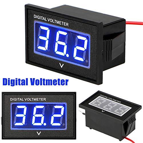 Linkstyle 36 Volt LED Digital Volt Meter Battery Gauge: Amazon.co.uk: Electronics