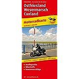 Ostfriesland - Wesermarsch - Cuxland: Motorradkarte mit Ausflugszielen, Bikertreffs, Tourenvorschlägen, wetterfest, reißfest, abwischbar, GPS-genau. 1:200000 (Motorradkarte / MK)