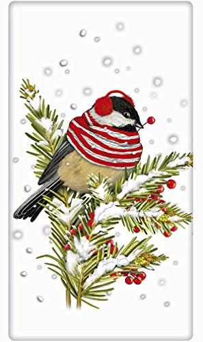 Fat Winter Chickadee 100% Cotton Flour Sack Dish Tea Towel - Mary Lake Thompson 30