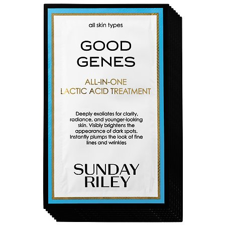 SUNDAY RILEY Good Genes All-In-One Lactic Acid Treatment Sample Set - 7 x 0.06 oz/ 2 mL