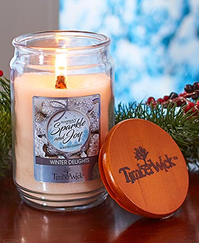 (The Lakeside Collection 18-Oz. Timberwick Winter Delights Jar Candle -)