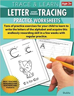 amazoncom trace learn letters alphabet tracing workbook practice worksheets daily practice guide for pre k children volume 1 9781540328526 shobha