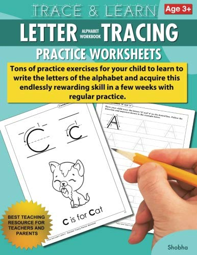 Trace amp Learn Letters Alphabet Tracing Workbook Practice Worksheets: Daily Practice Guide for PreK Children