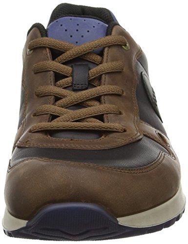 Ecco ECCO CS14 MEN'S - zapatilla deportiva de cuero hombre Negro (COCOA BROWN/BLACK55379)