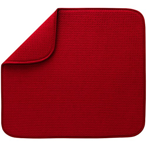 STS 408601 Dish Drying Mat, Standard, Red