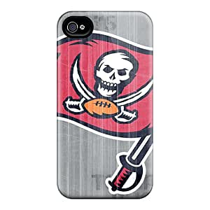 Shock Absorbent Hard Cell-phone Case For Iphone 4/4s (xsR6644XYAC) Support Personal Customs HD Tampa Bay Buccaneers Pattern