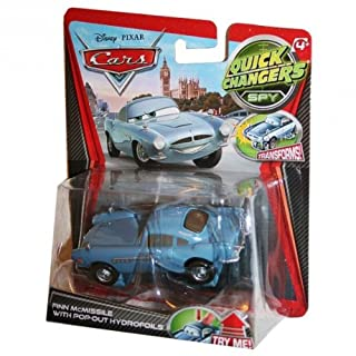 Disney - Pixar Cars 2 Movie 1:55 Quick Changers Spy Finn Mcmissile With Pop-out