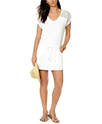 bd899542bc03a Calvin Klein Crochet Shoulder Swimsuit Cover up (3X) at Amazon ...