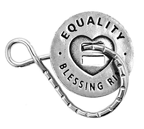 Equality Love Diversity Acceptance Reversible Blessing Ring Keychain