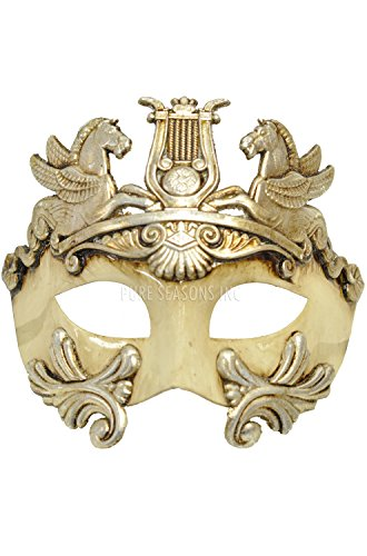 [Mens Mythological Silver Hercules Greek Style Party Mask Mens Mythological Greek Style Party Mask Mardi Gras Majestic Party Halloween Ball Prom by] (Hercules Costume Couple)