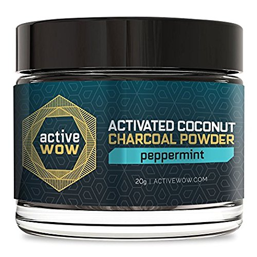 Active Wow Teeth Whitening Charcoal Powder Peppermint