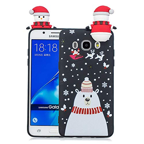 Happon for Samsung Galaxy J5 (2016) J510 Cellphone Case Shockproof Case Pouches - Snowman